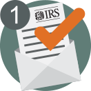 Professional letter evaluation icon